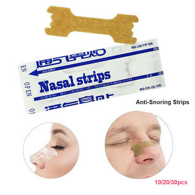 Anti-Snoring Nasal Strips Relieve Snore Stopper Straps Night Sleeping Care tool.