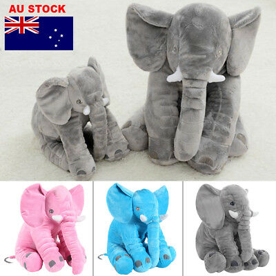 AU 60cm Giant Elephant Doll Stuffed Animal Cushion Baby Sleeping Soft Pillow Toy