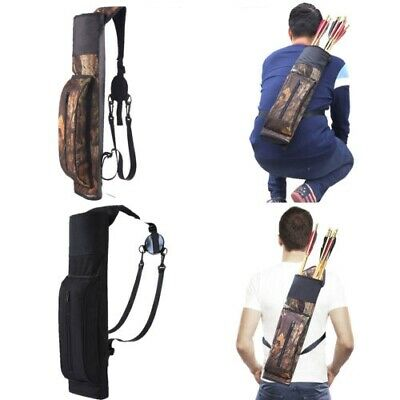Hunting Bow Back Quiver Shoulder Archery Arrow Pouch Bag Holder Strap Carry Case