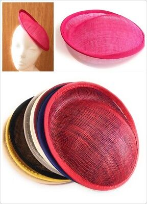 20cm Round Sinamay Dipped Fascinator Base Hat Millinery DIY Supply Wholesale UK