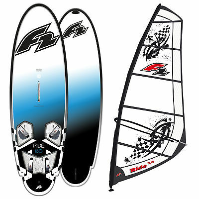 F2 Ride 185 Liter Freeride Fun & Family Windsurf-Board 2019 + Ride Rigg 6,5 Qm