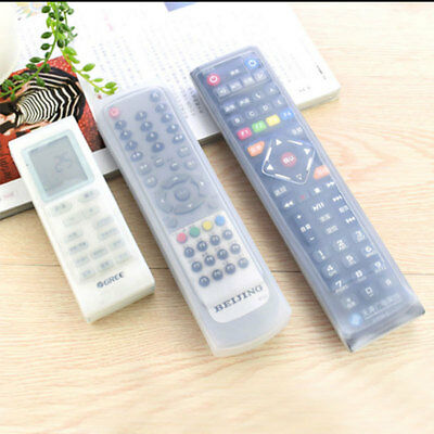 4 Size TV Remote Control Set Waterproof Dust Silicone Skin Protective Cover Case