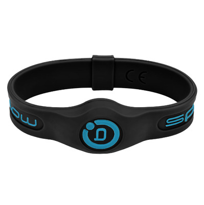 New Bioflow Sport Silicone Magnetic Therapy Wristband Blk/Aqu Size Small RRP £30