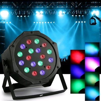 RGB Par Stage Lighting 18-LED DMX-512 Party DJ Disco KTV XMAS Projector Light MP