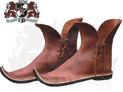Antique fight shoes viking Roman Medieval Leather Boot Armor Footwear 14