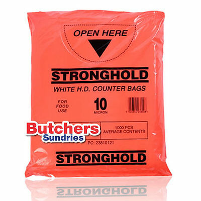 Butchers-Sundries 1000x Butchers-Sundries Poly Polythene Counter Bags 12''x15''