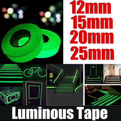 3M/10M Luminous Tape Self-adhesive Glow In The Dark Safety Stage Home NS