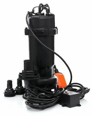 Cesspool Sewage Dirty Water Deep Well Septic Sump Pump + Grinder + float switch