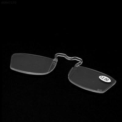 CDB1 With Clip Reading Glasses Older Mirror Nose Clip Mini Small Eyeglasses Eyew