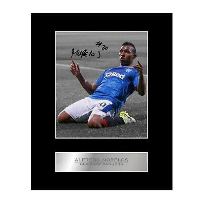 Alfredo Morelos Signed Mounted Photo Display Glasgow Rangers FC Autographed Gift