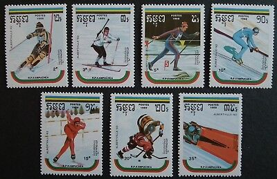Liechtenstein 1987 Winter Olympic Games Olympics Sports Skiing Bobsleigh 3v Mnh Stamps Aland