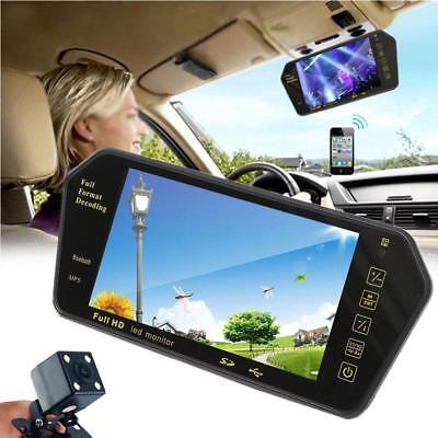 """7"""" LCD Car Rear View Backup Mirror Monitor+Wireless Reverse Camera Cam System"""