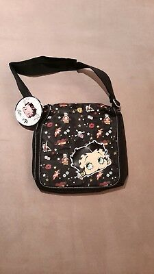 New Betty Boop black cloth shoulder purse bag