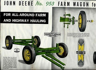 Rare 1942 John Deere Farm Wagon with Rubber Tires Ad - 10 pages of Photos & info