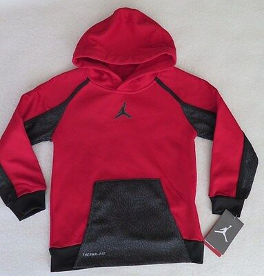 Jordan Little Boys' AJ Victory Therma-FIT Red Hoodie - Size 7 - NWT