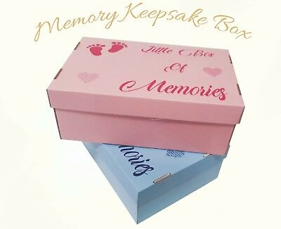 New Baby Memory Keepsake Box Large Toddler Newborn Girl Or Boy Christening Gift