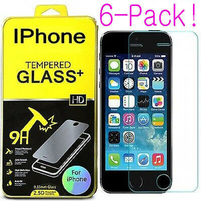 1-6X Tempered Glass Protective Screen Protector Film for iPhone 10 X 6S/7/8 Plus