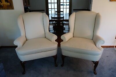 Calico Corners Brandywine Design Queen Anne Wing Back Chairs