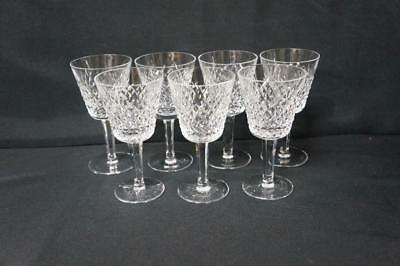 7  Waterford Alana Claret Wine Glasses 5 7/8""