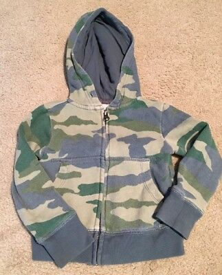 Crewcuts Boys Size 2 Camo Zip Up Sweatshirt