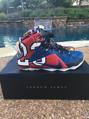 3ab12a2237ca ... uk norway nike lebron 12 xii se what the lebron multicolor playoff  basketball shoes sz 8