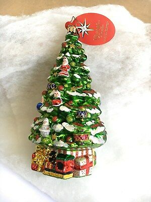 BOUNTIFUL BOUGHS Tree Christopher Radko Glass Christmas Ornament Limited Edition