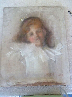 "Beautiful English School "" G.H.I.Dowie "" Portrait of a Young Girl - Circa 1900"