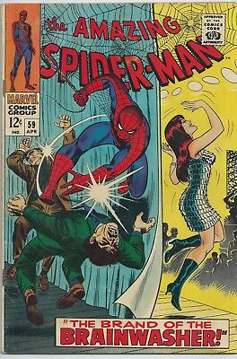 **amazing Spider-Man #59**(Apr 1968 Marvel)**1St Mary Jane Cover**silver Age Key