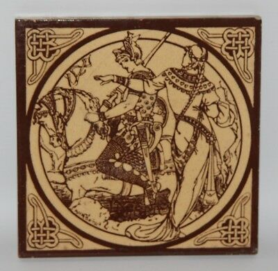 Minton Tile - John Moyr Smith - Idylls Of The King, Lynette - c1880