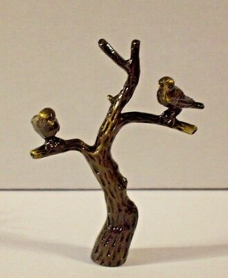 """Tree Of Life Cast Brass Lamp Finial With Antique Brass Finish  2 7/8""""h 11079Jb"""