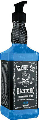 Bandido Shaving Gel Blue 1000 ml !! Whisky Design !!