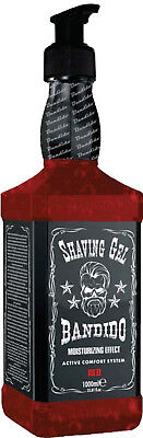 Bandido Shaving Gel Red 1000 ml !! Whisky Design !!