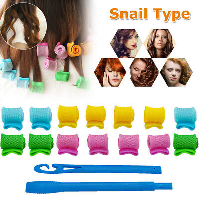 DIY 18pcs Hair Rollers Styling Snail Type Magic Rolls Curlers Formers Salon Tool