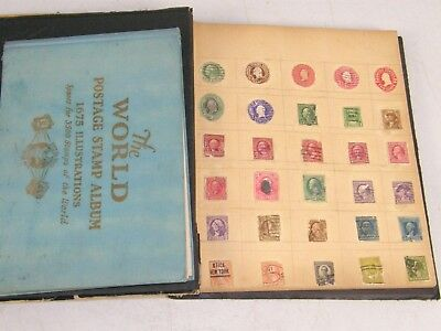 Lot of 2 Antique Estate postage stamp albums collection