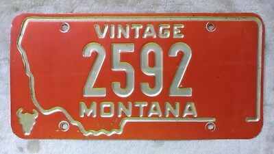 Vintage Montana 2592 License Plate No Year. Nice!!!