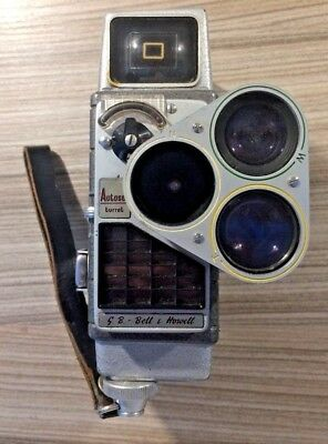 Vintage Autoset Turret, Bell & Howell Video Camera - Includes Case