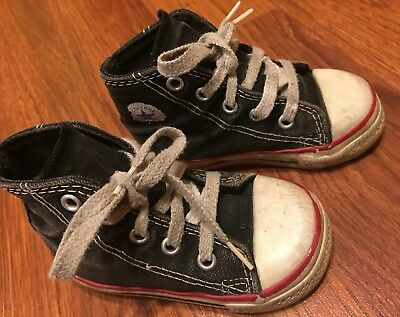 Boys Toddler Converse All Star Chuck Taylor Black Hi Top Shoes Size 5.5 Kids