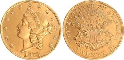 20 Dollar Goldmünze USA 1873 Philapelphia Liberty Head DDO FS-101  Original