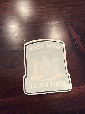 New York State Police inside the window decal sticker