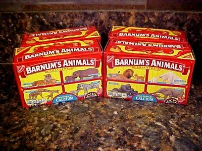 Barnum's Circus Animal Crackers Box Caged Design Lot of 4 & FREE VINTAGE BAGS