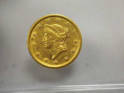 1851-O Gold Dollar, $1 Gold Liberty Nice with Free First Class USA shipping..