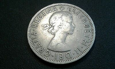 1956 Great Britain Half Crown.great Looking Coin.free Shipping.