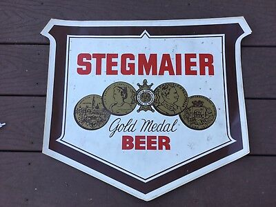 Vintage Stegmaier Beer Wilkes Barre PA Lion Brewery Large Sticker Decal Unused