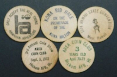 Hawaiian Wooden Nickels