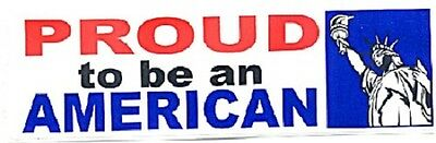 9/11 Proud To Be An American 7 1/2 inch by 2 1/2 inch bumper sticker