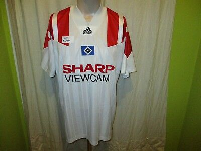 "Hamburger SV Adidas Equipment Trikot 1993/94 ""SHARP VIEWCAM"" + Nr.10 Gr.L TOP"