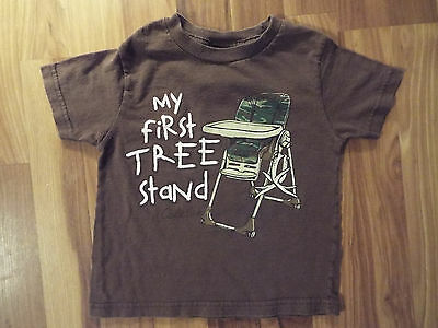 """Boys Infant Rabbit Skins S/S Cabela's Shirt Size 4 """"My First Tree Stand"""" B9"""