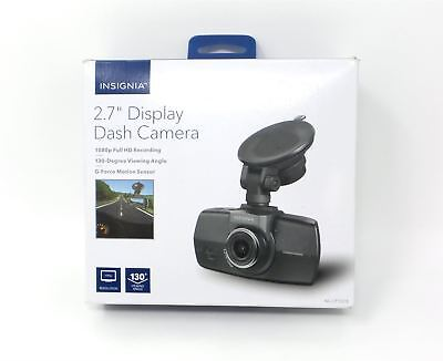 "Insignia Dash Cam 2.7'"" LCD Display 130 Degree View Angle Full HD Black See Desc"