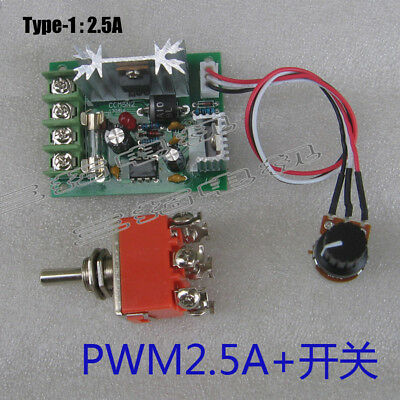 DC2V 24V 2.5A/5A/15A/30A Micro DC Brush Motor PWM Speed Controller Regulator
