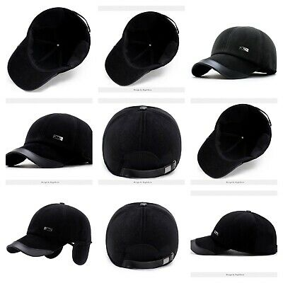 20584e2edc474 MEN WINTER BASEBALL Cap Thicken with Ear Flaps Hat Bone Men s ...